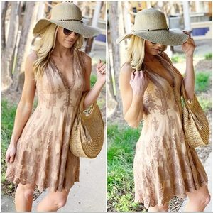 ✨LAST ONE✨Mocha Lace Dress